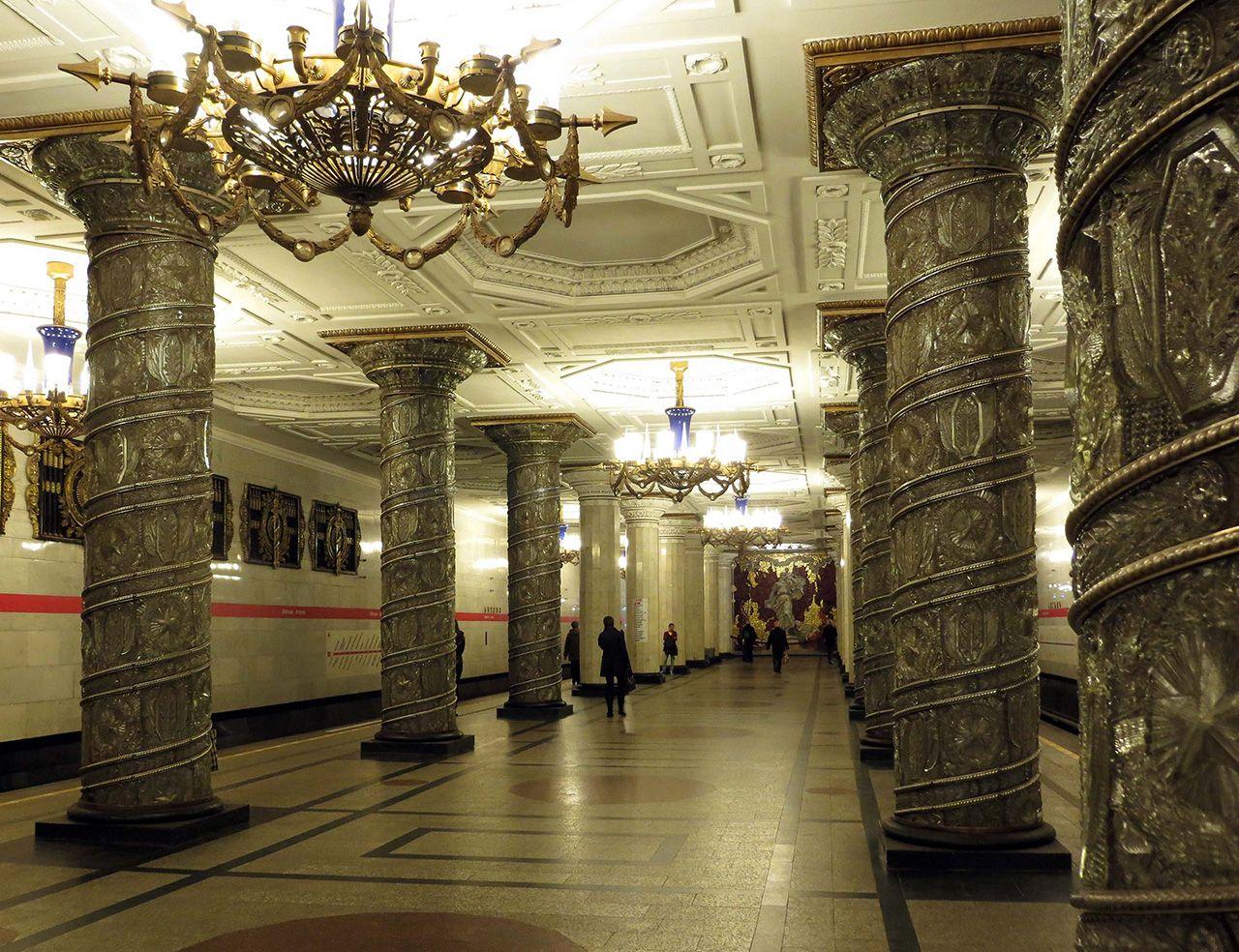 Avtovo Metro Station in St. Petersburg. Bild: Ventus Reisen