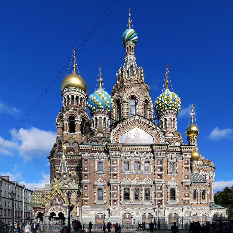 Blutkirche, Erlöserkirche, Bluterlöser-Kirche und Auferstehungskirche in Sankt Petersburg. Bild: Ventus Reisen