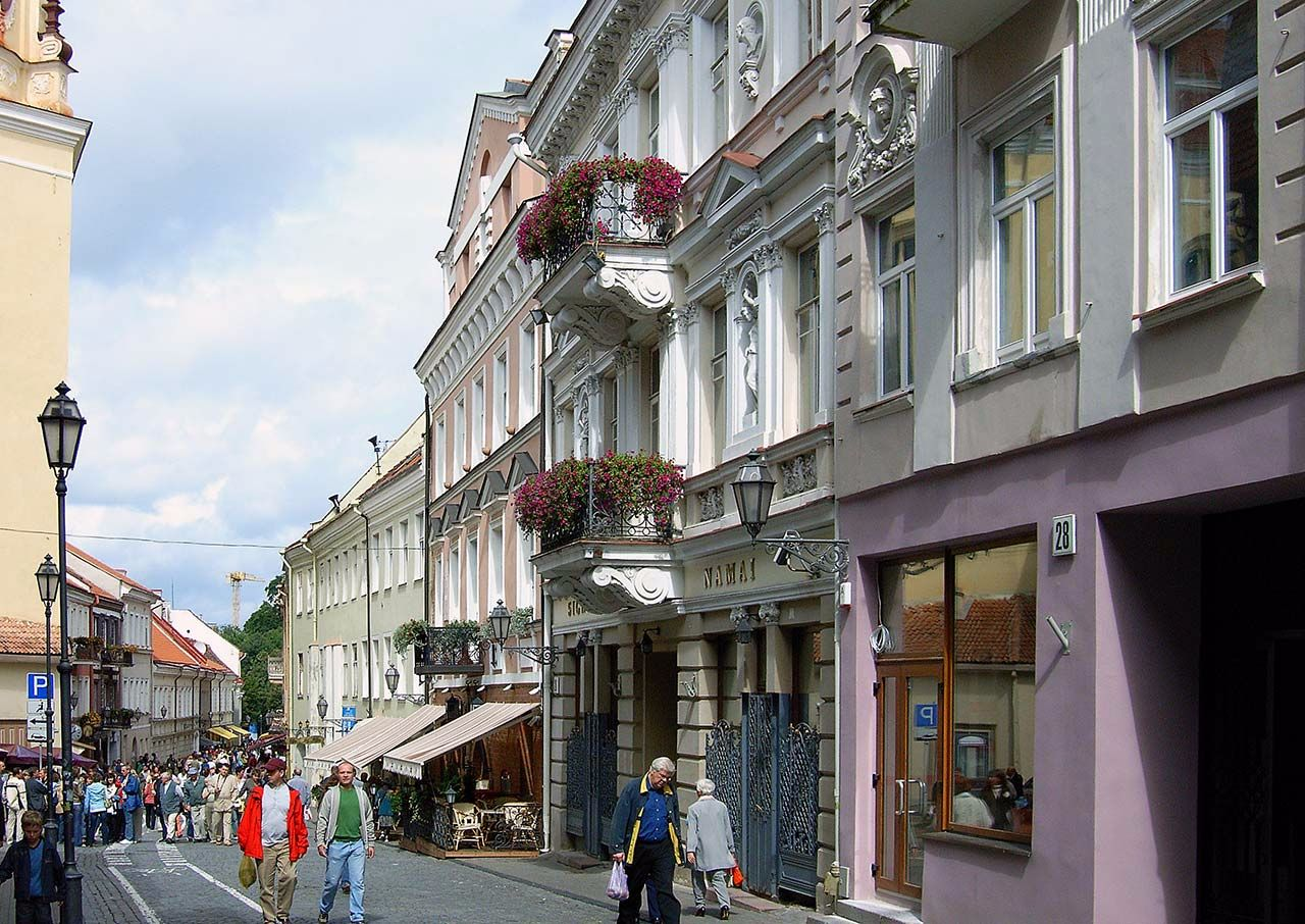 Strassenszene in Vilnius, Litauen. Bild: Ventus Reisen